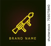 machine gun golden metallic logo