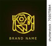 breakfast golden metallic logo