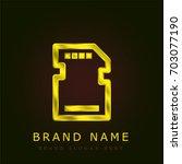 sd card golden metallic logo