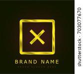 error golden metallic logo