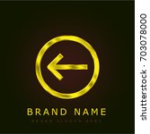 left golden metallic logo