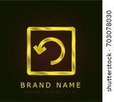 arrow golden metallic logo