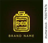 timer golden metallic logo   Shutterstock .eps vector #703079476