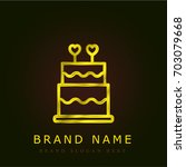 cake golden metallic logo