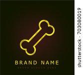bone golden metallic logo