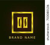 pause golden metallic logo