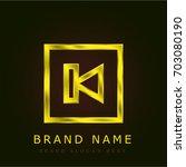 previous golden metallic logo | Shutterstock .eps vector #703080190