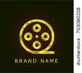 film roll golden metallic logo