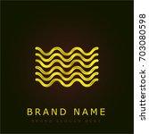 sea golden metallic logo