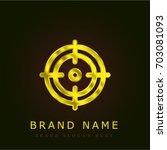 position golden metallic logo