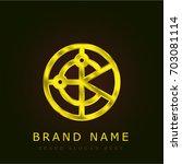 radar golden metallic logo