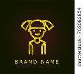 daughter golden metallic logo