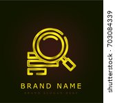 search golden metallic logo