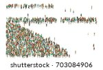 various shaped crowd of people. ... | Shutterstock . vector #703084906
