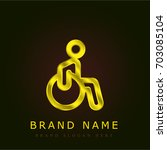 disability golden metallic logo