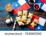 chilean independence day... | Shutterstock . vector #703085500