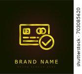 payment golden metallic logo