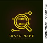 analytics golden metallic logo