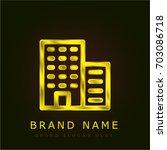 building golden metallic logo