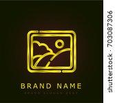 gallery golden metallic logo