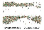various shaped crowd of people. ... | Shutterstock . vector #703087369