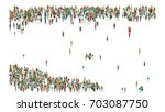 various shaped crowd of people. ... | Shutterstock . vector #703087750