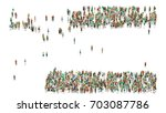 various shaped crowd of people. ... | Shutterstock . vector #703087786