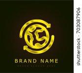 sustainable golden metallic logo