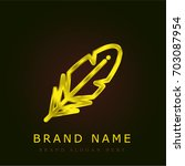 quill golden metallic logo