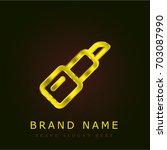 lipstick golden metallic logo