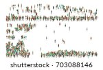 various shaped crowd of people. ... | Shutterstock . vector #703088146