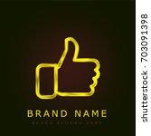 like golden metallic logo