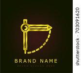 compass golden metallic logo