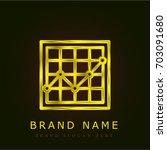 analysis golden metallic logo