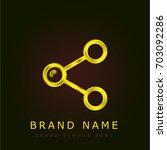 share golden metallic logo
