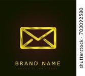 envelope golden metallic logo