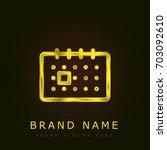calendar golden metallic logo