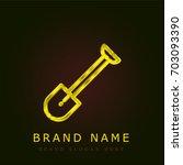 shovel golden metallic logo