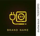 plug golden metallic logo