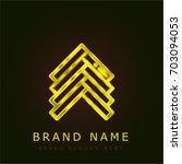 parquet golden metallic logo