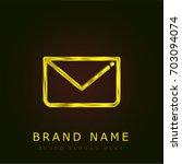 letter golden metallic logo