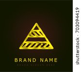 pyramid golden metallic logo