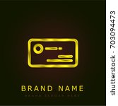 business card golden metallic...
