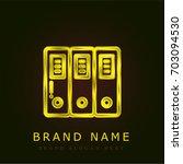 folders golden metallic logo