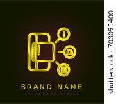 smartwatch golden metallic logo