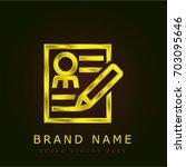 curriculum golden metallic logo