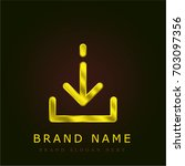 download golden metallic logo