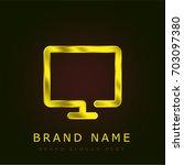 screen golden metallic logo