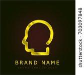 head golden metallic logo | Shutterstock .eps vector #703097848
