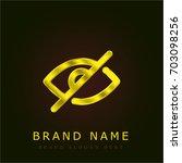 hide golden metallic logo
